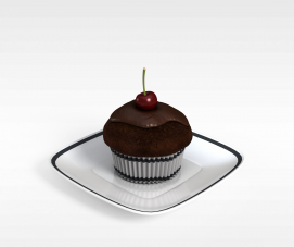 巧克力糕点3d模型