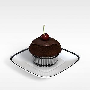3d巧克力糕點模型