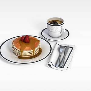 3d早餐模型