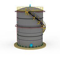 800公秉TANK储槽3D模型3d模型