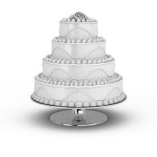 多层生日蛋糕3D模型