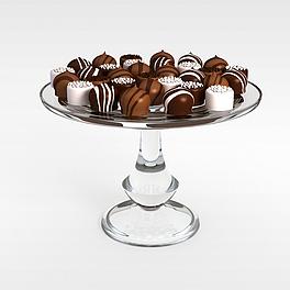 糕点食品3D模型