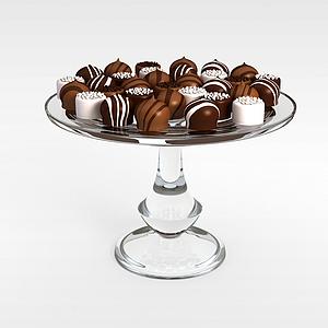 3d糕點食品模型