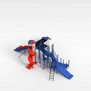 兒童滑梯3d模型