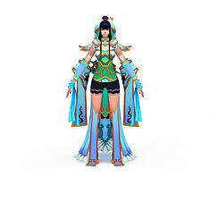 仙侠游戏人物3D模型3d模型
