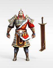 仙侠游戏人物模型3d模型