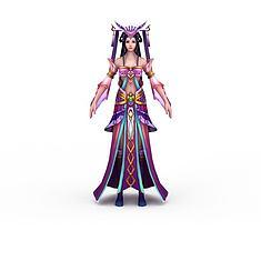 网游仙女3D模型3d模型