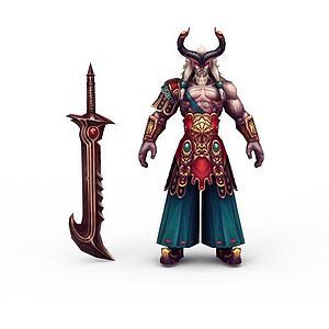 3d游戲怪物牛魔王模型
