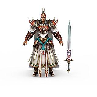 网游铠甲勇士3d模型