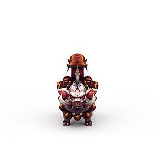 网游怪兽3d模型