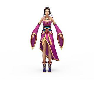 女性网游角色3d模型
