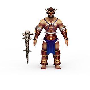 网游男性人物3d模型