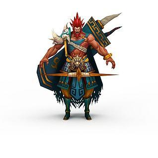 游戏勇士3d模型