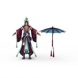 网游人物3d模型