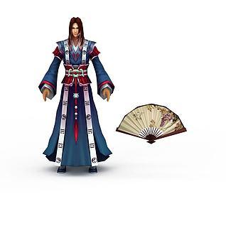 男性游戏角色3d模型