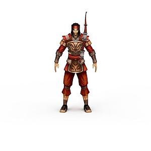 游戏弓箭手角色模型