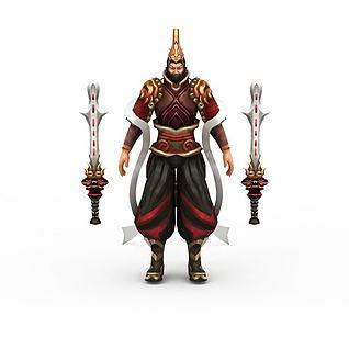 网游武夫角色3d模型