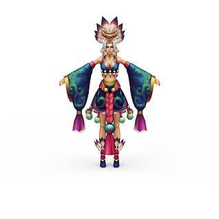 女士网游角色3d模型