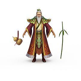 游戏老人角色模型