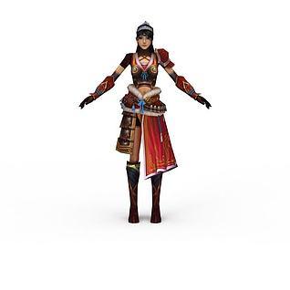 女士游戏角色3d模型