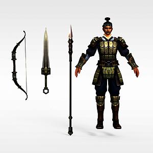 游戏铠甲人物模型