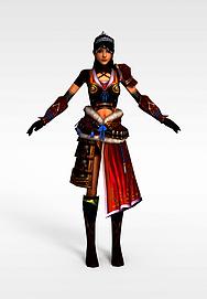女士游戏角色模型