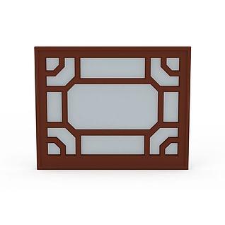 木质窗框3d模型