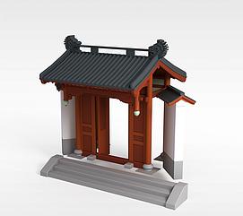 中式庭院<font class='myIsRed'>牌坊</font>3d模型