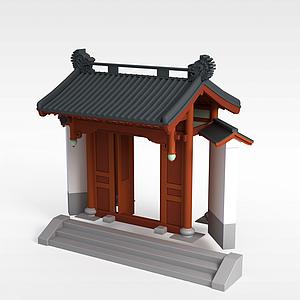 3d中式庭院<font class='myIsRed'>牌坊</font>模型