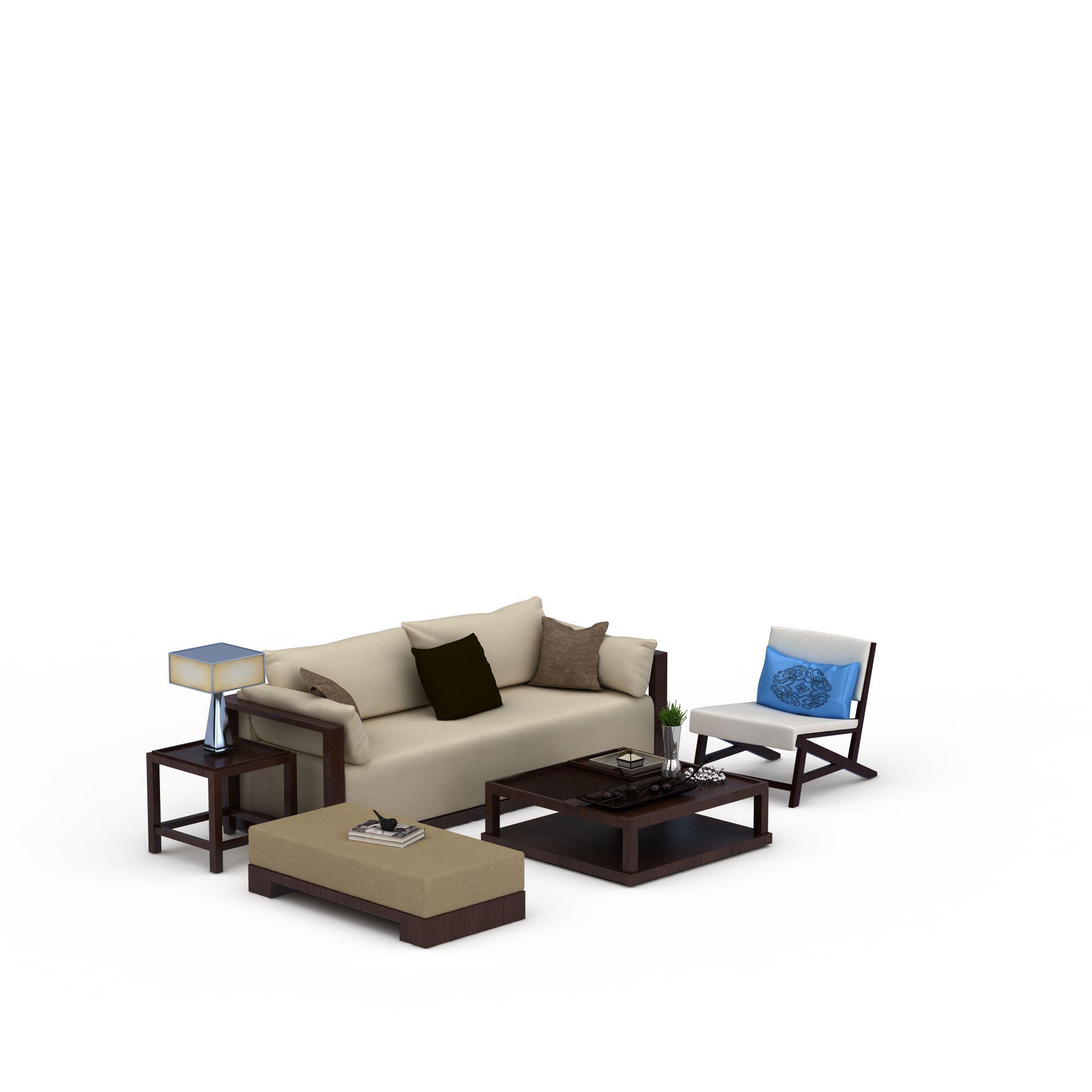 中式沙发组合图片_中式沙发组合png图片素材_中式沙发