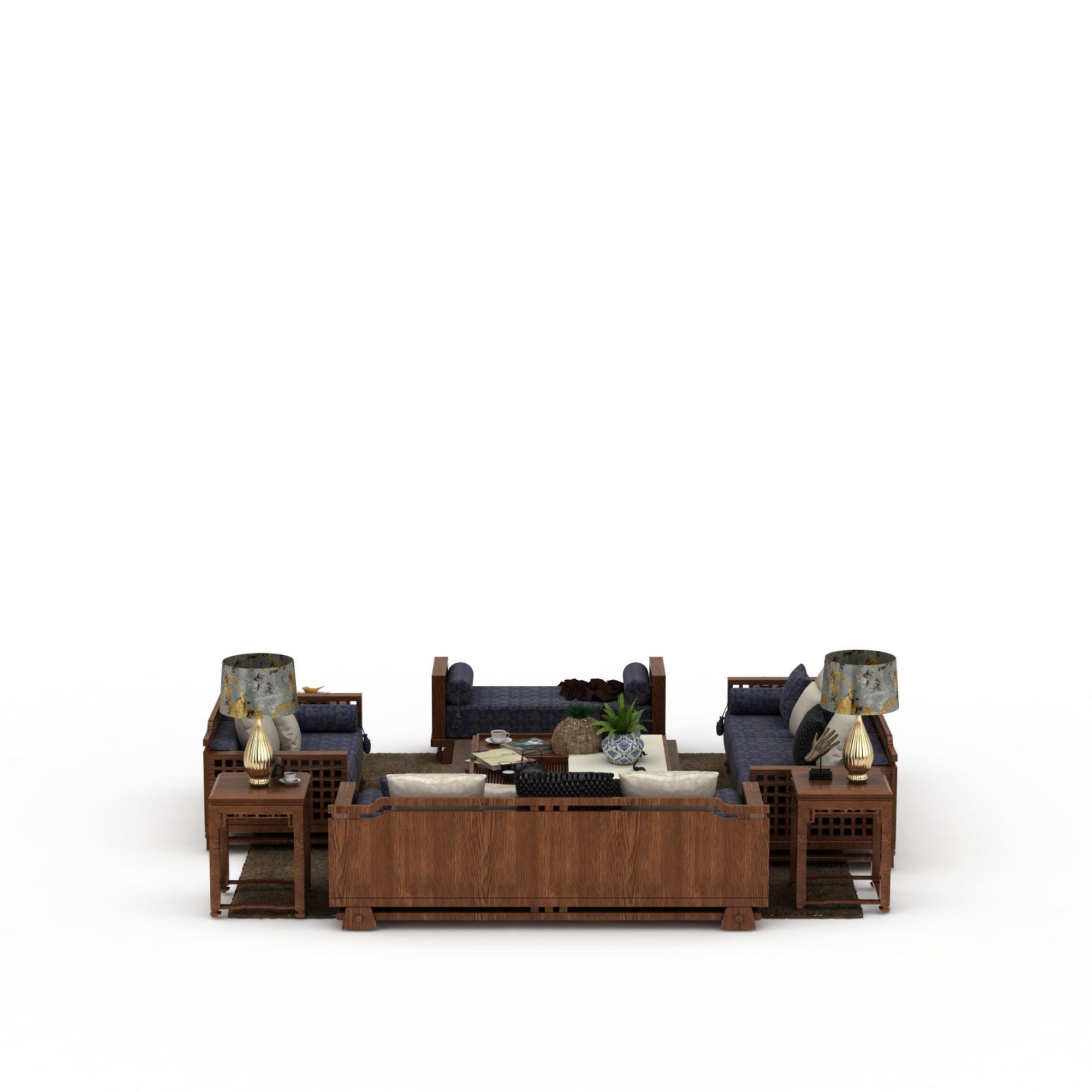 中式沙发组合高清图下载图片