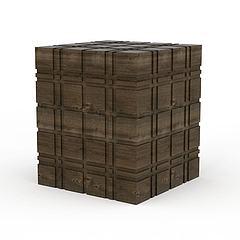 木箱子模型3d模型