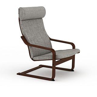 木质休闲椅3d模型