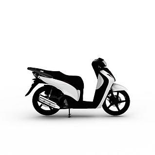 电动摩托车3d模型