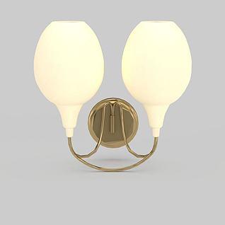 双头壁灯3d模型