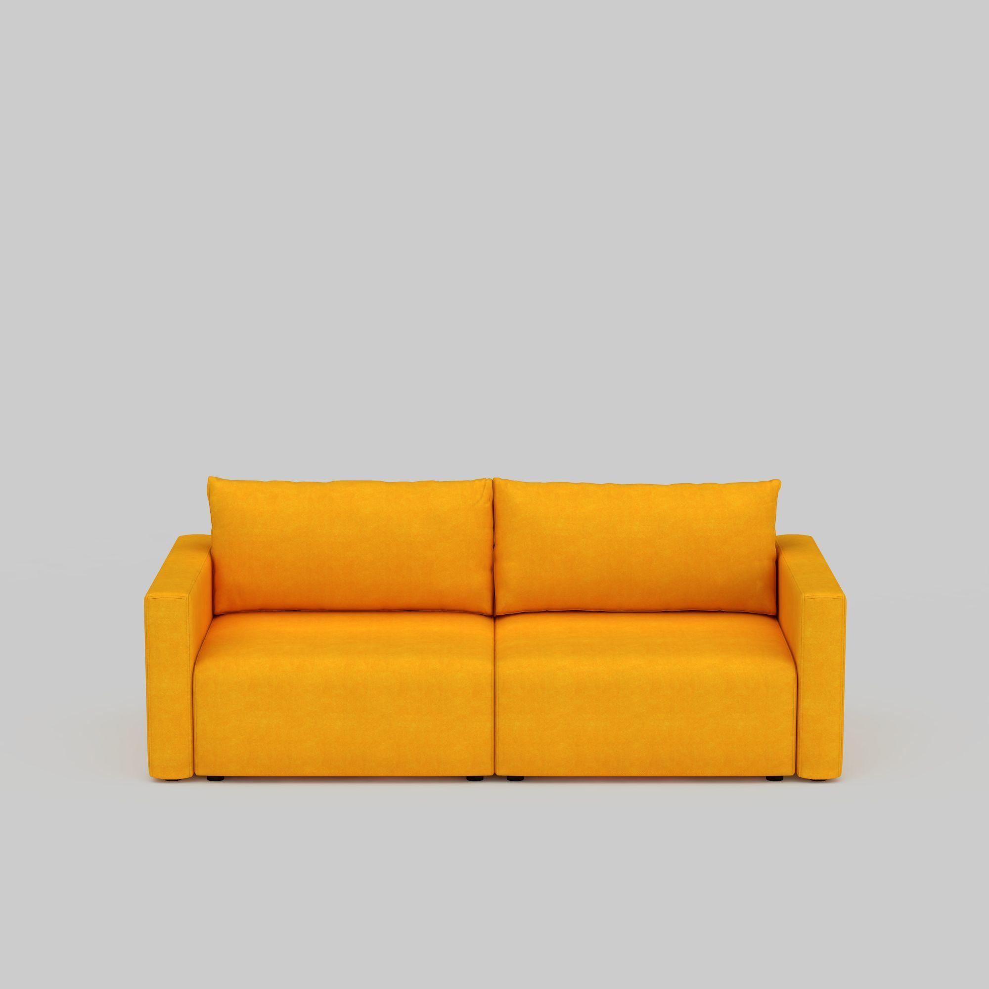 黄色双人沙发图片_黄色双人沙发png图片素材_黄色双人