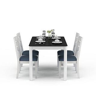 简约<font class='myIsRed'>餐桌</font>3d模型