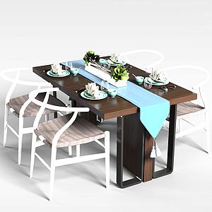 3d客廳餐桌模型