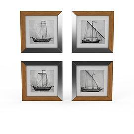 3d?#21482;?font class='myIsRed'>帆船</font>墙饰模型