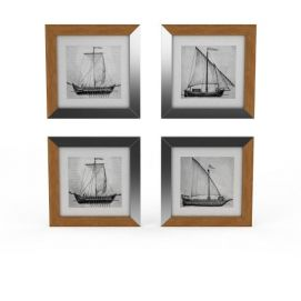 手绘<font class='myIsRed'>帆船</font>墙饰3d模型