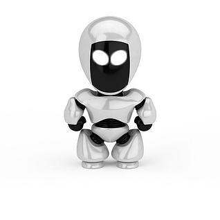 儿童机器人3d模型