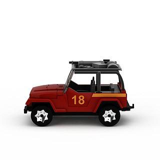<font class='myIsRed'>儿童玩具</font>车3d模型