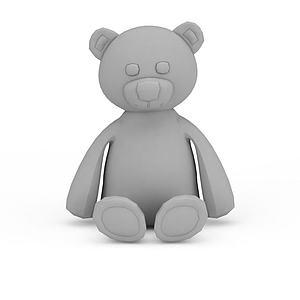 卡通玩具熊模型3d模型