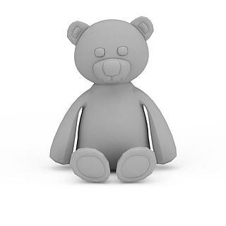 卡通玩具熊3d模型