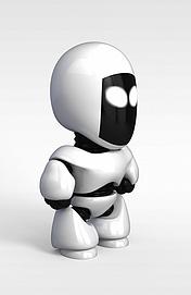 3d儿童<font class='myIsRed'>机器人</font>模型