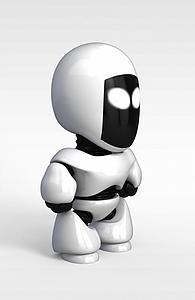 3d兒童<font class='myIsRed'>機器人</font>模型