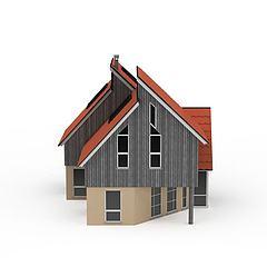 欧式建筑楼模型3d模型