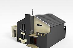 双层别墅模型3d模型