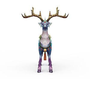 游戲坐騎麋鹿模型