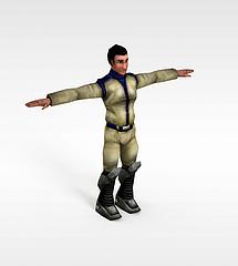 旧风格游戏角色模型3d模型
